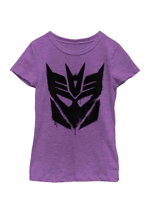 Girls 4-6x  Decepticon Graffiti Logo Graphic T-Shirt