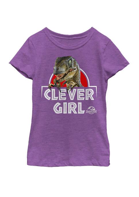 Jurassic Park Girls 7-16 Velociraptor Real Clever Short