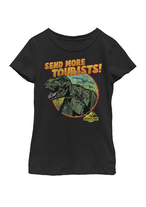 Jurassic Park Girls T-Rex Send More Tourists Short