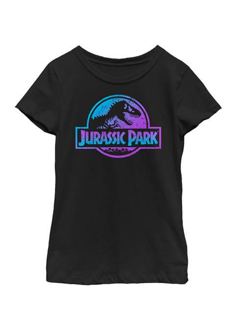 Jurassic Park Girls Blue and Purple Fossil Logo