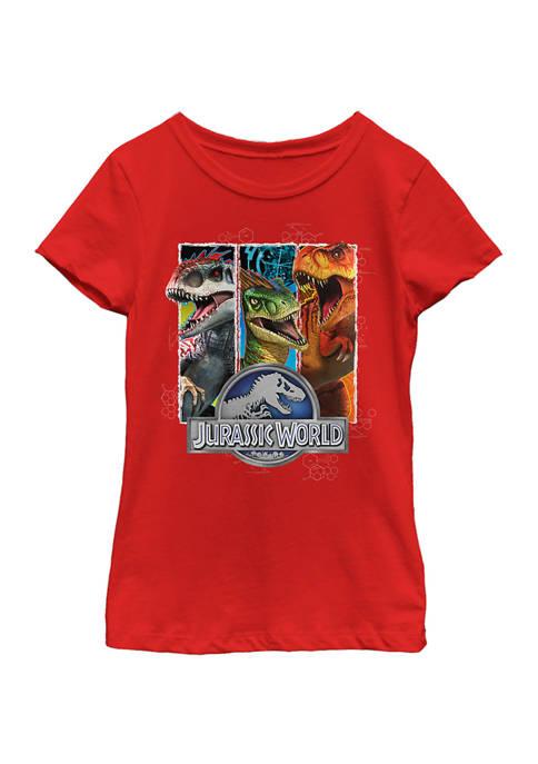 Jurassic World Girls 4-6x Long Ago Graphic T-Shirt