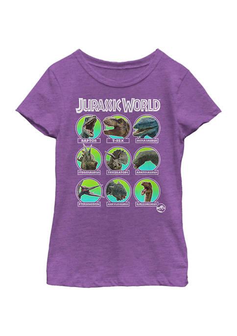 Jurassic World Girls 4-6x Hall of Fame Graphic