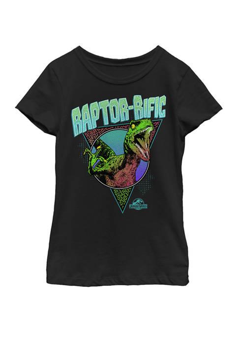 Jurassic World Girls 80s Retro Raptor-rific Dino Short