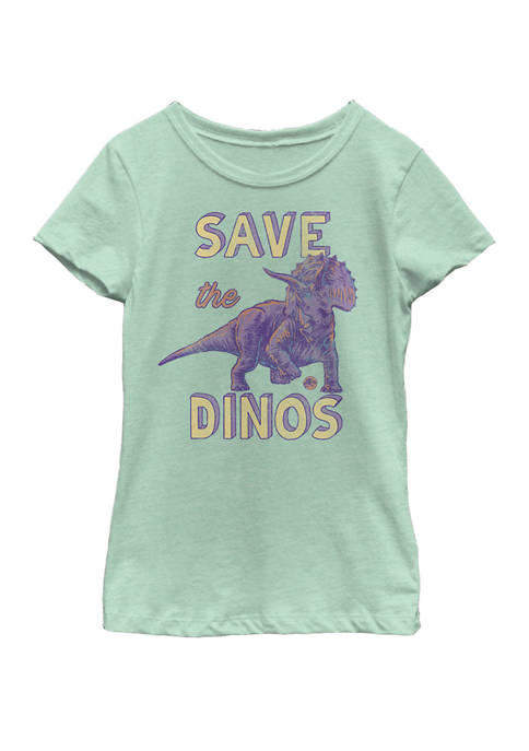 Save the Dinos Triceratops Short Sleeve Graphic T-Shirt