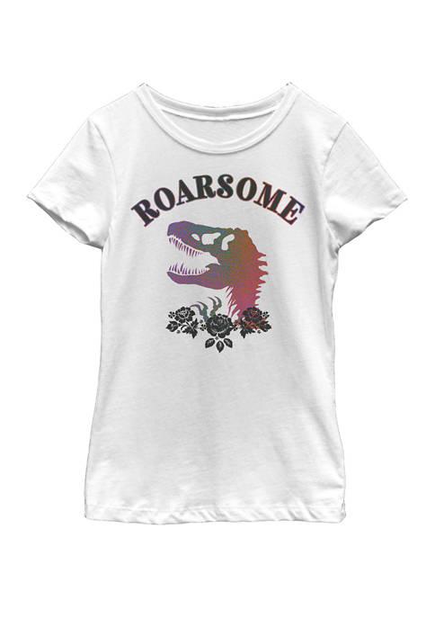 Jurassic World Dinosaur Roarsome Short Sleeve Graphic T-Shirt