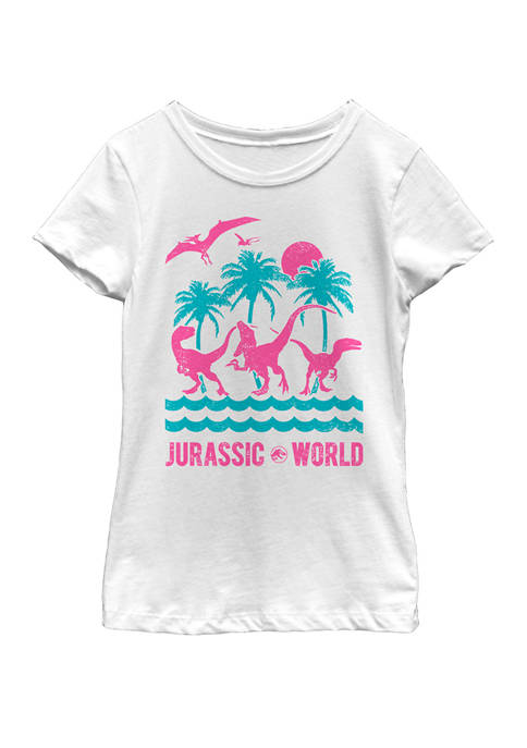 Jurassic World Two Dinosaur Beach Retro Short Sleeve