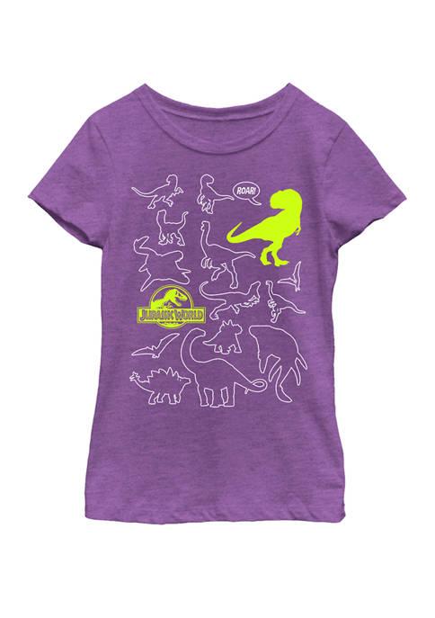 Jurassic World Two Dino Doodle Neon Pop Short