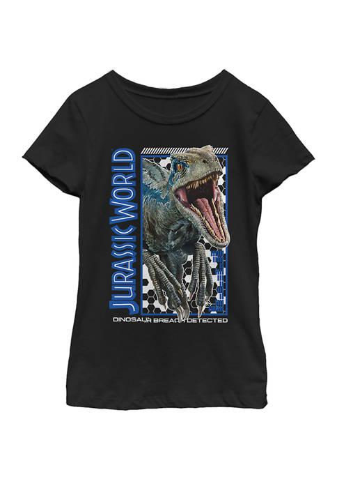 Jurassic World Girls 4-6x Breach Detected Graphic T-Shirt