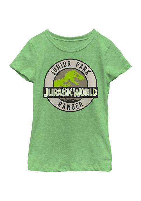 Jurassic World Girls 4-6x Junior Ranger Badge Graphic