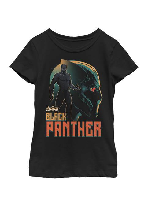 Infinity War Black Panther Profile Short Sleeve Graphic T-Shirt