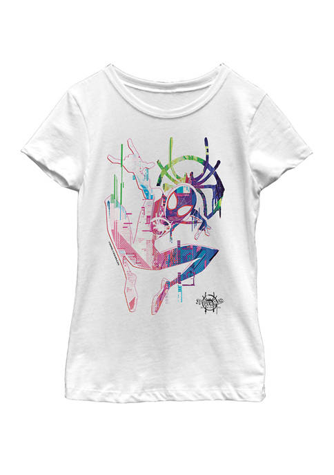 Marvel™ Spiderverse Watercolor Spidey Pose Short Sleeve Graphic