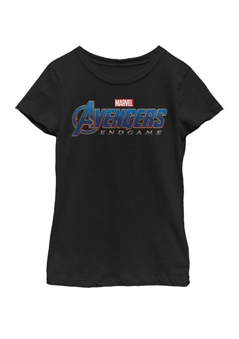 Marvel™ Girls 7-16 Avengers Endgame Movie Logo Short