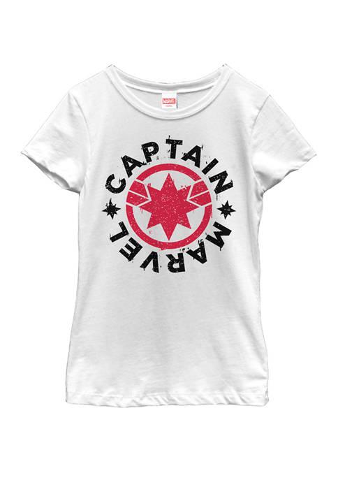 Marvel™ Girls Captain Marvel Movie Circle Red Logo