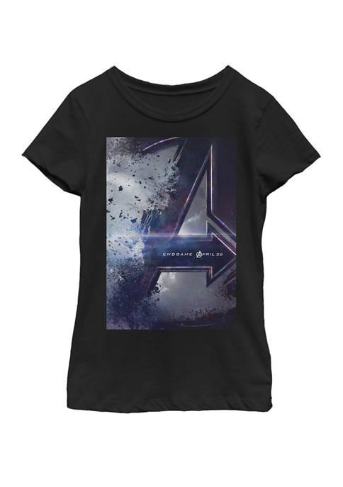 Girls 7-16 Avengers Endgame Movie Poster Short Sleeve Graphic T-Shirt
