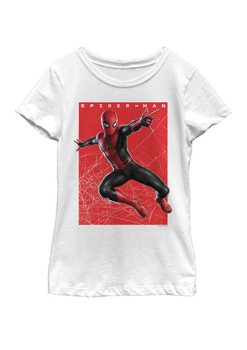 Spider-Man Far From Home Web Swinging Poster Short Sleeve T-Shirt