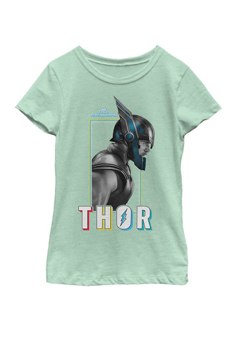 Girls 7-16 Thor Ragnarok Strong Pose Short Sleeve T-Shirt
