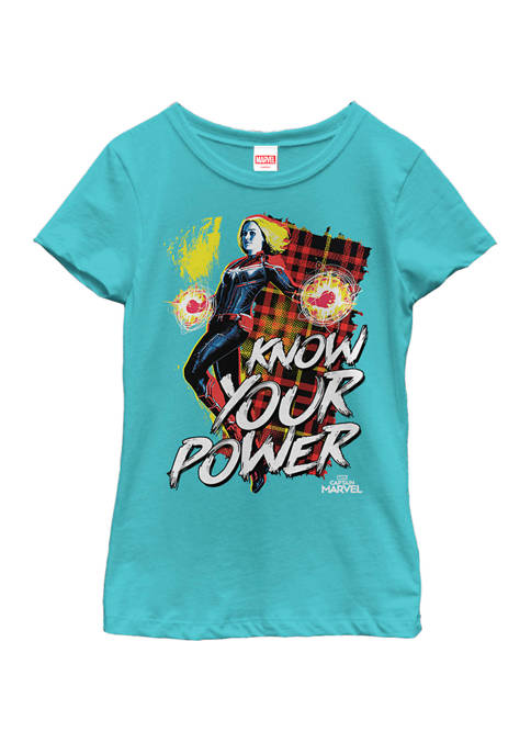 Marvel™ Girls Captain Marvel Know Your Power Short