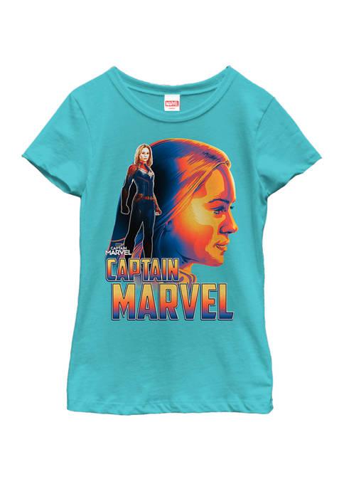 Marvel™ Girls 7-16 Captain Marvel Bold Sunset Portrait