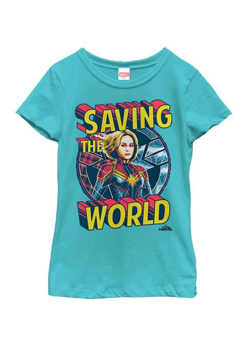 Marvel™ Girls Captain Marvel Saving The World Portrait