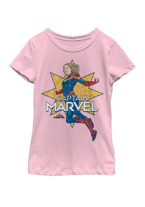 Marvel™ Girls Captain Marvel Star Power Short Sleeve