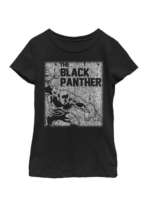 Black Panther™ Girls Black Panther Chalk Print Vintage