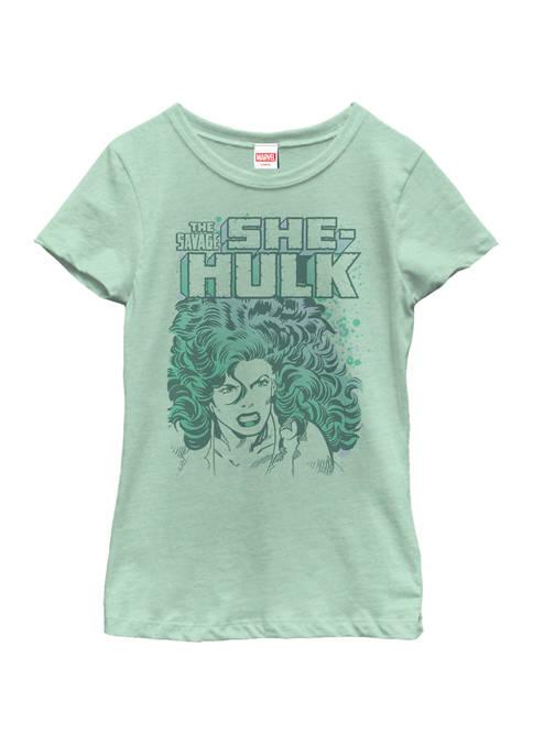 Marvel™ Girls The Savage She-Hulk Colorful Retro Portrait