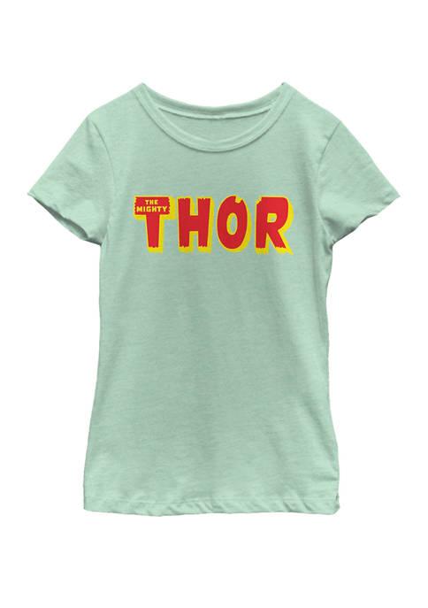 Marvel™ Girls Thor Name Logo Short Sleeve Graphic