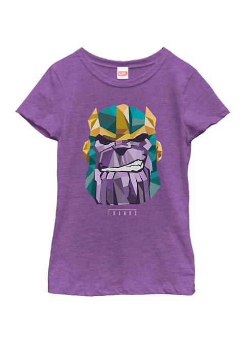 Marvel™ Girls Thanos Low Poly Geometric Art Head
