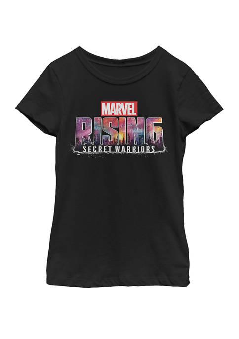 Marvel™ Girls Secret Warriors Logo City Fill Short