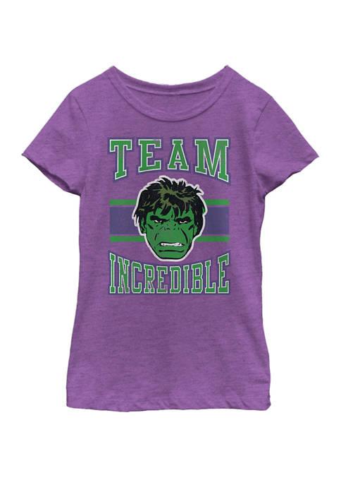 Marvel™ Girls Classic Team Incredible Hulk Short Sleeve
