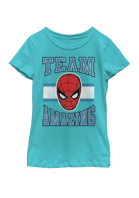 Girls Classic Team Amazing Spider-Man Short Sleeve Graphic T-Shirt