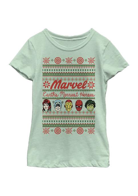 Girls 4-6x Merriest Heroes T-Shirt
