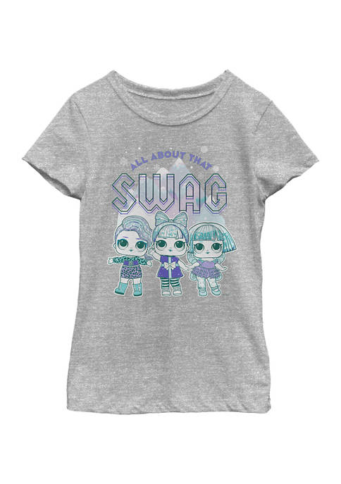 Girls 4-6x All About Swag Graphic T-Shirt