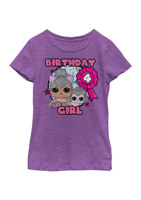 LOL Surprise Girls 4-6x Birthday Girl 4 Graphic
