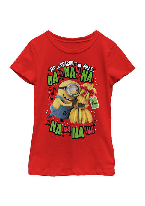 minions™ Girls 4-6x Deck the Halls T-Shirt