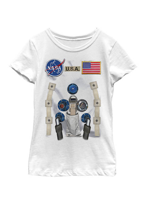 NASA Girls 7-16 U.S.A. Astronaut Suit Costume Short