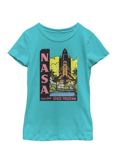 NASA Girls 7-16 United States Space Program Short