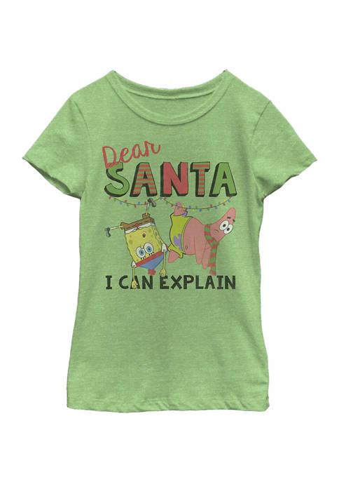 Girls 7-16 Spongebob Short Sleeve T-Shirt