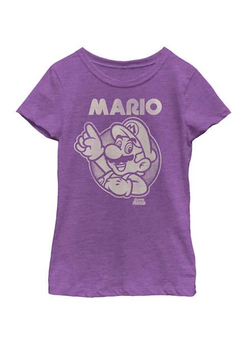 Nintendo Girls 7-16 Super Mario Pointing Line Art