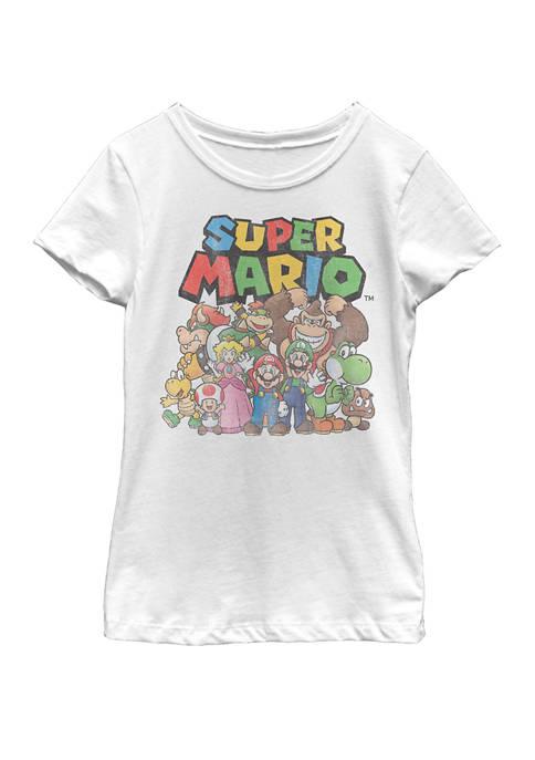 Nintendo Girls 7-16 Super Mario Full Cast Group