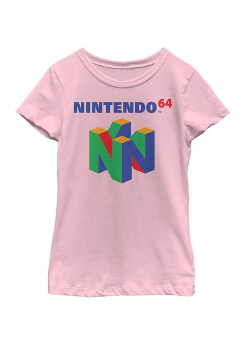 Nintendo Girls 7-16 64 Classic Logo Retro Vintage