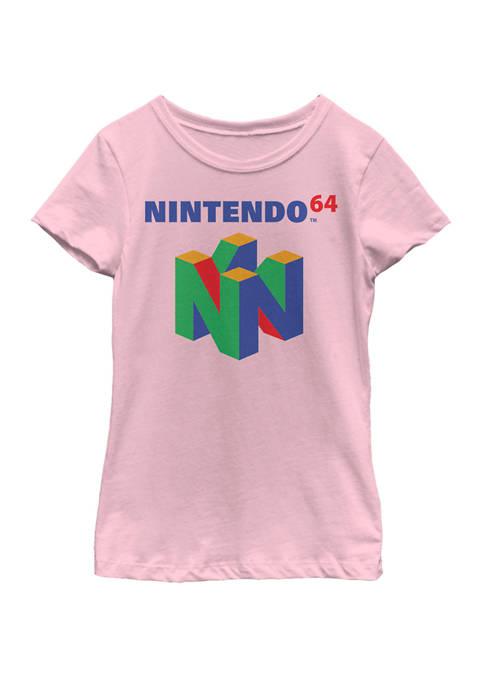 Girls 7-16 64 Classic Logo Retro Vintage Short Sleeve Graphic T-Shirt