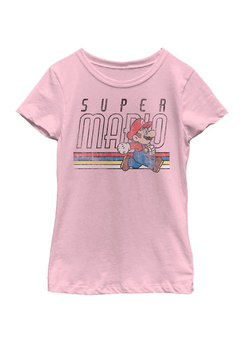 Nintendo Girls 7-16 Super Mario Retro Stripe Walk