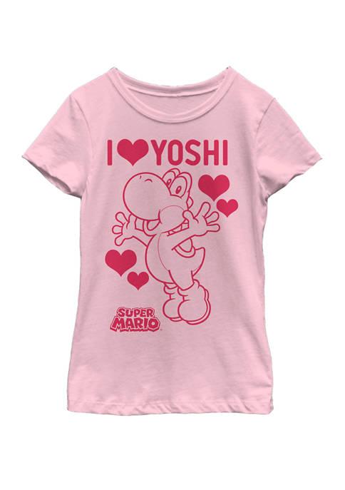 Nintendo Girls 7-16 Super Mario I Love Yoshi