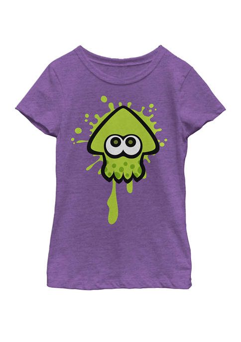 Nintendo Girls 7-16 Splatoon Green Inkling Squid Splat