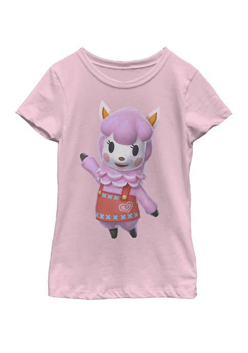 Nintendo Girls 7-16 Animal Crossing Reese Waving Short