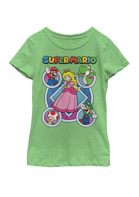 Nintendo Girls 7-16 Super Mario Colorful Pop Art