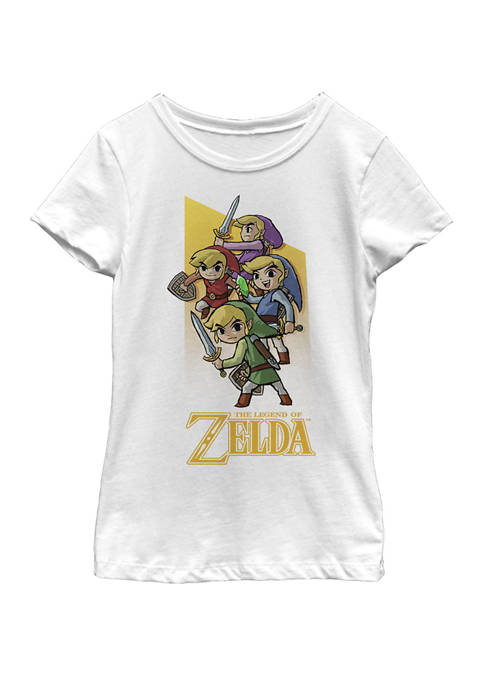 Nintendo Girls 7-16 Zelda Four Links Short Sleeve