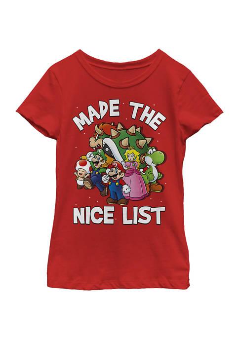 Nintendo Girls 4-6x Nice List Top
