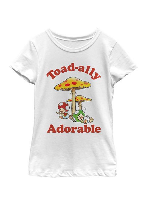 Nintendo Girls 7-16 Super Mario Adorable Toads Retro